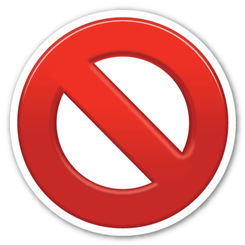 No entry red